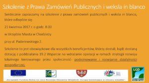 Szkolenie z Prawa Zamówień Publicznych i weksla in